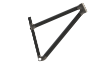 Rendering of the bicycles front triangle