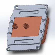 CAD model of TPU cooling block